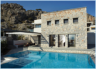 Blue Dreams Exclusive Villa Pefkos - Exterior & Pool