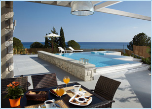 Blue Dreams Exclusive Villa Pefkos - Outdoor Dining Area