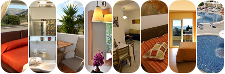 Selection of Accommodation Pictures of Pefkos, Rhodes